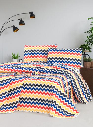 For Home Çift Kişilik Yatak Örtüsü Seti Styx Renkli